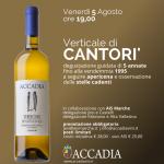 """EVENTI: """"Verticale di Cantorì"""" alla cantina Accadia"""