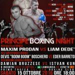 SPORT: nuova serata di boxe al teatro Principe di Milano