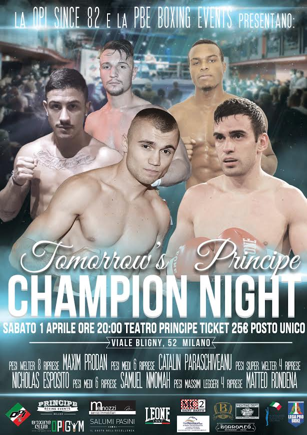 Tomorrow's Principe CHAMPION NIGHT