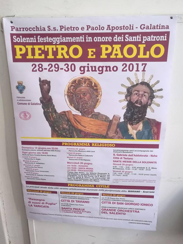 Galatina - Manifesto della festa patronale