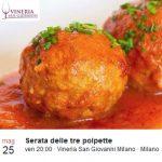 EVENTI:  brindisi e polpette in Vineria San Giovanni!